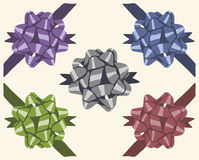 Weinlesegeschenk-Bogenset vektor abbildung