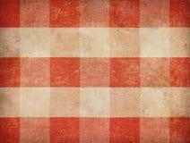 Weinlesegingham-Tischdeckenhintergrund Stockbilder