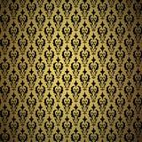 Weinlesegoldhintergrund, vector dekoratives Muster Stockfoto