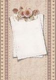 Weinlesegrußkarte für Valentinstag Lizenzfreie Stockfotos