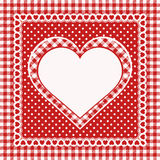 Weinlesegrußkarte mit Herzen Stockfotos