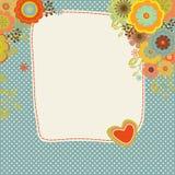 Weinlesegrußkarte oder -einladung Lizenzfreie Abbildung