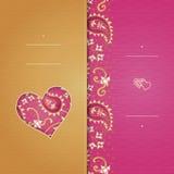 Weinlesegrußkarten mit Strudeln und Blumenmotiven in der Ostart Lizenzfreie Stockfotografie