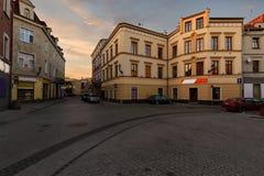 Weinlesehäuser auf der Straße in der alten Stadt von Gliwice Lizenzfreie Stockfotos