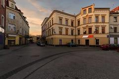 Weinlesehäuser auf der Straße in der alten Stadt von Gliwice Stockfotos