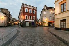 Weinlesehäuser in der alten Stadt von Gliwice, Polen Lizenzfreies Stockfoto