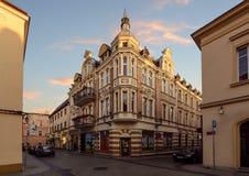 Weinlesehaus auf der Straße in der alten Stadt von Gliwice Stockbilder