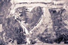 Weinleseherzmalerei-Abstraktionshintergrund Lizenzfreies Stockfoto