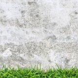 Weinlesehintergrund der konkreten Beschaffenheit und des grünen Grases Lizenzfreies Stockbild