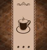 Weinlesehintergrund für Kaffeemenü Lizenzfreies Stockbild