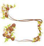 Weinlesehintergrund mit Blumen Lizenzfreie Stockbilder
