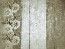 Weinlesehintergrund mit Blumen Lizenzfreies Stockfoto