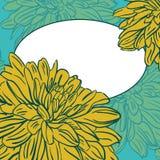 Weinlesehintergrund mit Blumen mit Raum für Ihren Text. Vektor vektor abbildung