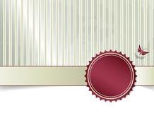 Weinlesehintergrund mit Fahne Stockbilder