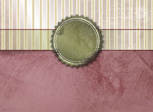 Weinlesehintergrund mit Fahne und Aufkleber Lizenzfreie Stockbilder