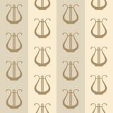 Weinlesehintergrund mit Harfen vektor abbildung