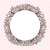 Weinlesehintergrund mit rosafarbenen Rosen Lizenzfreie Stockbilder