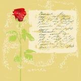 Weinlesehintergrund mit Rosen-Blumen Lizenzfreies Stockbild