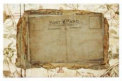 Weinlesehintergrund von den alten Postkarten Lizenzfreie Stockfotos