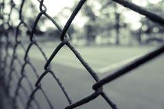 Weinlesehintergrund von Tennis und von Basketballplatz Lizenzfreies Stockbild