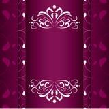 Weinlesehochzeitseinladungsrahmen-Vektordesign stockbilder