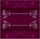 Weinlesehochzeitseinladungsrahmen-Vektordesign lizenzfreie stockbilder