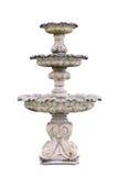 Weinlesehofbrunnen lokalisiert auf Weiß Lizenzfreie Stockbilder