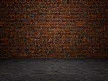 Weinleseinnenraumbacksteinmauer stockbilder