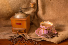 Weinlesekaffeemühle Lizenzfreie Stockfotos