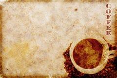 Weinlesekaffeemotiv Stockbild