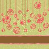 Weinlesekarte der frohen Weihnachten ENV 8 Lizenzfreie Stockfotografie