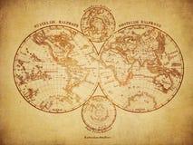 Weinlesekarte der Welt 1860 vektor abbildung
