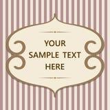 Weinlesekarte mit Rahmen und Text Lizenzfreie Stockbilder