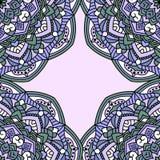 Weinlesekarten mit nahtlosem Muster vektor abbildung