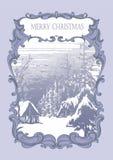 Weinlesekartenweihnachten Stockfotos