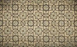 Weinlesekeramikfliesenhintergrund, perfektes buntes Muster lizenzfreie stockbilder