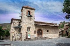 Weinlesekirche in Patones de Arriba Lizenzfreie Stockbilder