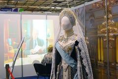 Weinlesekleid auf Mannequin lizenzfreies stockfoto