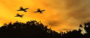 Weinlesekriegflugzeuge stock abbildung