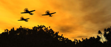 Weinlesekriegflugzeuge Lizenzfreies Stockbild