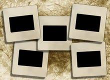 Weinleseleerzeichenplättchen-Fotofelder Lizenzfreie Stockbilder