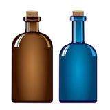 Weinlesemedizinflaschen, Vektor Lizenzfreies Stockbild