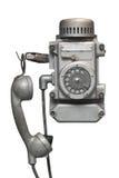Weinlesemetallscheibentelefon Stockbild