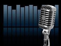 Weinlesemikrofon Stockfotos