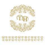 Weinlesemonogramm Abstraktes Logo, Alphabet Stockbild