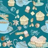 Weinlesemorgen-Teehintergrund Stockbilder