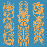 Weinlesemuster, dekorative Elemente Stockbild