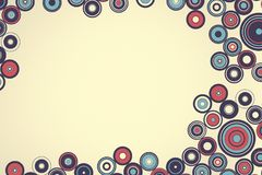 Weinlesemuster der einfachen Geometrie Retro--Art Abbildung Lizenzfreie Stockbilder