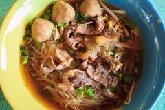 Weinlesenudel, thailändisches Artlebensmittel Stockfoto