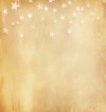 Weinlesepapier mit Sternen stockfotos